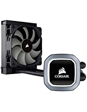 Corsair Hydro H60 Liquid CPU Cooler (120mm Radiator, Single 120mm PWM Fan, RGB-LED Pump Head) Black