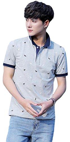 DeBangNi ポロシャツ 夏 服 メンズ Tシャツ 半袖 無地 シンプル カジュアル シャツ ゴルフウェア スリム おしゃれ トップス ファッション メンズ