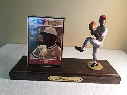 Bob Gibson St. Louis Cardinals Starting Lineup Figure Mounted Custom Made Wood Plaque ()