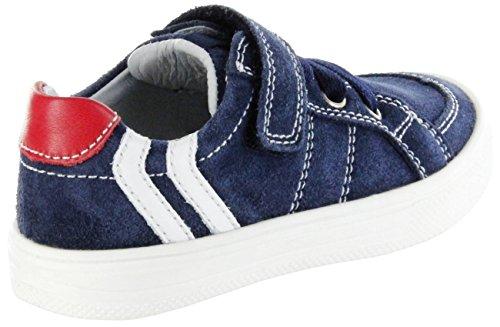 Richter Kinderschuhe Jungen Ola Sneaker Blau (atlantic/panna/fire)