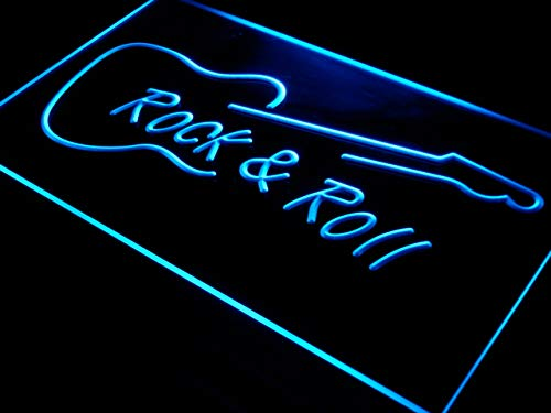ADVPRO i303-b Rock and Roll Guitar Music New Neon Light Sign