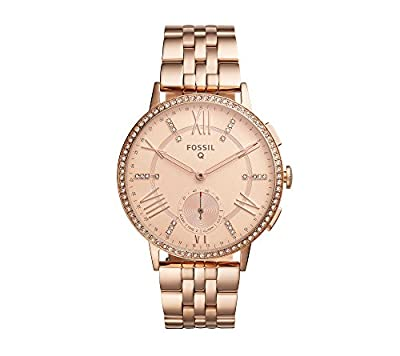 Fossil Hybrid Smart Watch - Q Gazer Rose Goldtone Stainless Steel