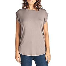TRENDY UNITED Women's Short Sleeve Round Hem Swing Tunic Top