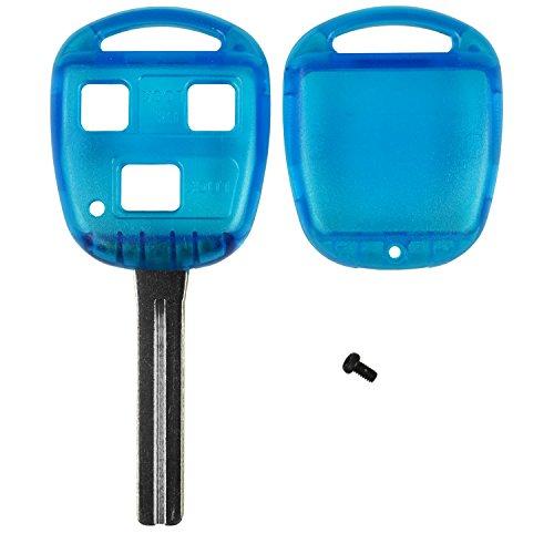 Qualitykeylessplus Blue Replacement Rhk Case 3 Button High Security Blade Remote Key Fob Fcc Id Hyq12bbt Free Keytag