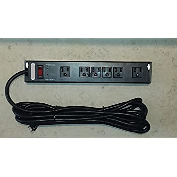 Amazon Com Mountable Power Strip 6 Outlet Surge