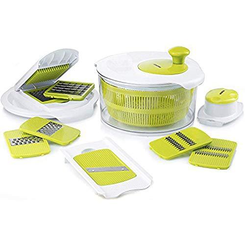 Salad Maker Set – Mandoline Slicer & Salad Spinner With Vegetable Chopper & Vegetable Slicer – Salad Cutter Bowl – Vegetable Dicer Set With Grater – Easy Salad Set