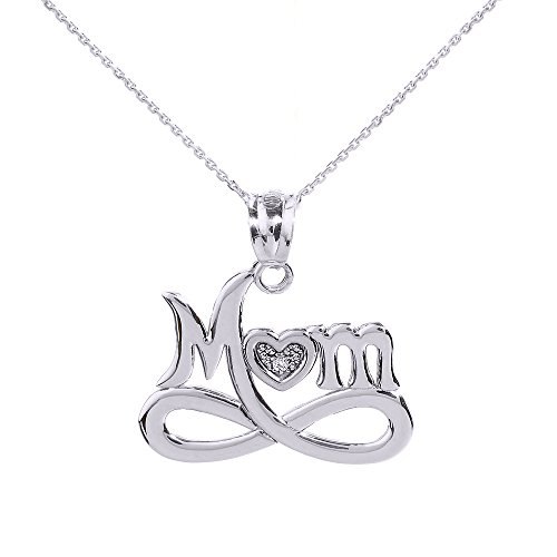 Sterling Infinity Diamond Pendant Necklace product image