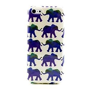 HC- patrón bebé elefante TPU caso suave para el iphone 5c