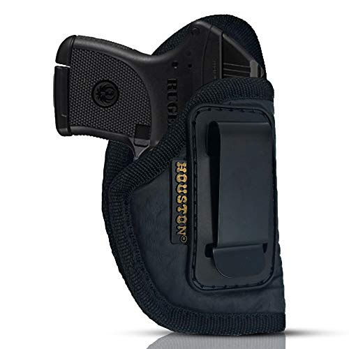 IWB Gun Holster by Houston - ECO Leather Concealed Carry Soft Material | Suede Interior for Protection | Fits: S&W Bodyguard,Taurus TCP, Sig P238, Jimenez JA, PPK380.Ruger LCP II (Right) (CHP-71-RH)
