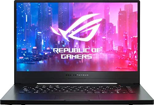 "Newest ASUS ROG Zephyrus G 15.6"" FHD IPS Premium Gaming Laptop, AMD Quad Core Ryzen 7 3750H Upto 4.0GHz, 16GB RAM, 512GB PCIe SSD, NVIDIA GTX 1660Ti 6GB GDDR6, RGB Backlit Keyboard, Windows 10"
