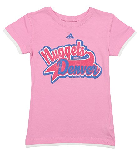 Outerstuff NBA Youth Girls Denver Nuggets Layered Swept Away Tee, Pink Large (14)