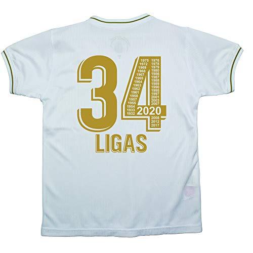 Real Madrid – 34 Ligas – Camiseta Réplica Autorizada – Ganadora en 2020 de 34 Ligas – Todos los Años Mentionados