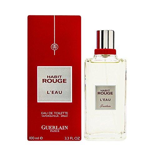 Guerlain Habit Rouge L'eau Eau de Toilette Spray for Women, 3.3 Ounce - Guerlain Habit Rouge Eau De Toilette Spray