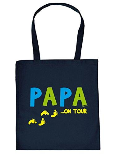 Hammer coole Einkaufstasche für den Papa - Papa on Tour - Geschenk Weihnachtsgeschenk Tasche Tragetasche Vatertag Vater Geschenkidee Eltern Dad