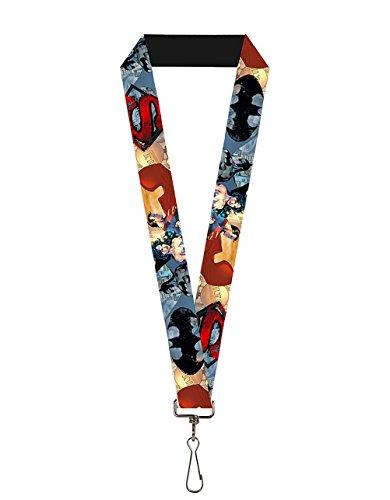 DC Comic Heroes Lanyard | Swivel Hook Attachment - Made in the USA (Justice League, Green Lantern, Superman, Batman) (The Office Halloween Joker Episode)