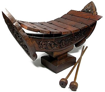Thai Traditional Xylophone Ethnic Music Instrument Gamelan Wood Carving by Thai Wood Carving