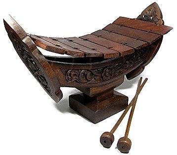 Thai Traditional Xylophone Ethnic Music Instrument Gamelan Wood Carving