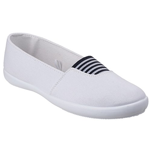 Divaz Womens/Ladies Adelle Slip on Every-day Casual Summer Pumps White