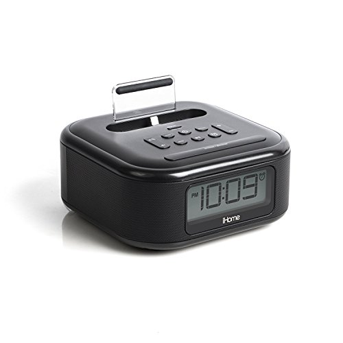 ihome ipl23v2 stereo fm clock radio with lightning connector import it all. Black Bedroom Furniture Sets. Home Design Ideas