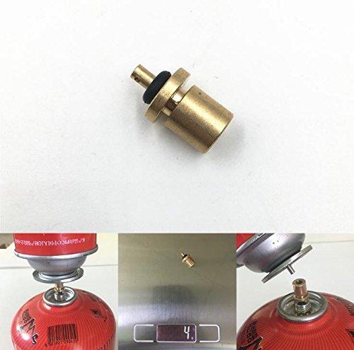 Rosepoem 1 PC Adaptador de recarga de gas Outdoor Camping Stove Cilindro Accesorios Butano Accesorios neum/áticos del recipiente