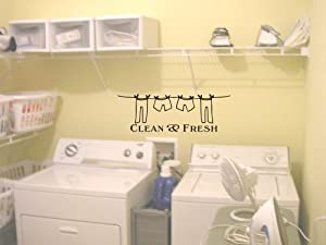 Clean And Fresh Laundry Room Cute Wall Art Wall Sayings