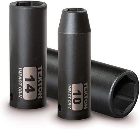 TEKTON 3/8 Inch Drive Deep 6-Point Impact Socket Set, 13-Piece (7-19 mm) | 47925