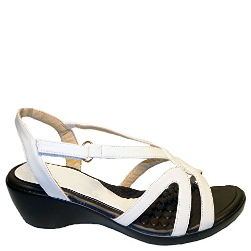 Sandalias Casual Bellini Mujeres 2 Terra Ankle Strap Blanco