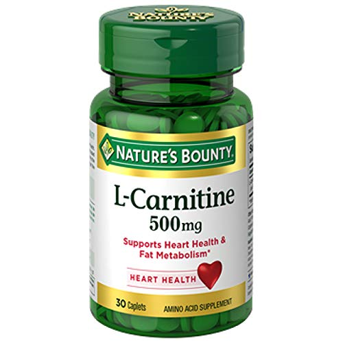 Nature's Bounty® L-Carnitine 500 mg, 30 Tablets