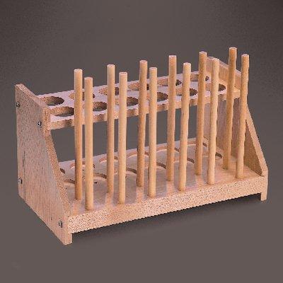 470200-412 - 26 mm Test Tube Rack - Double Row Wood Test Tub