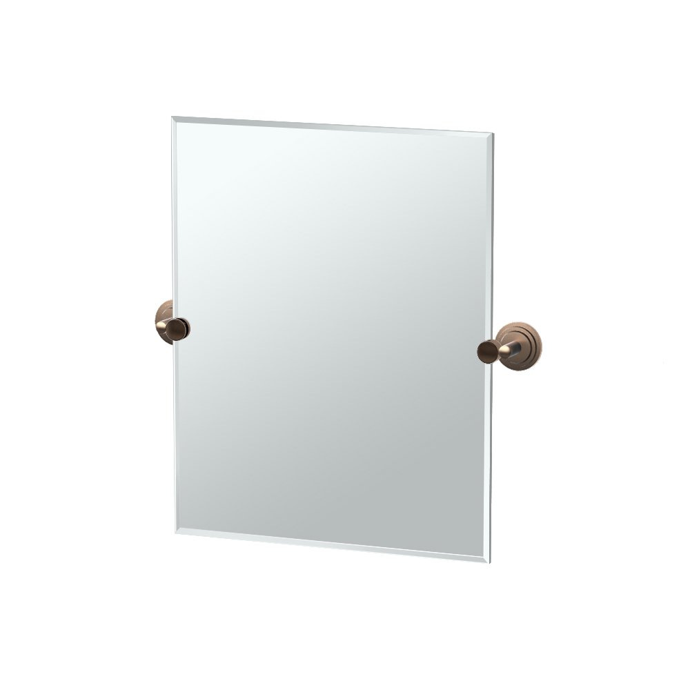 Gatco 4920SM Marina Small Rectangle Mirror, Bronze