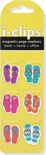 Flip Flop i-Clips Magnetic Page Markers (Set of 6 Magnetic Bookmarks)