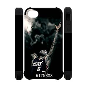Coolest Miami Heat star LeBron James Apple Iphone 4S/4 Case Cover Dual Protective Polymer Cases Witness Quotes NIKE JUST DO IT #6