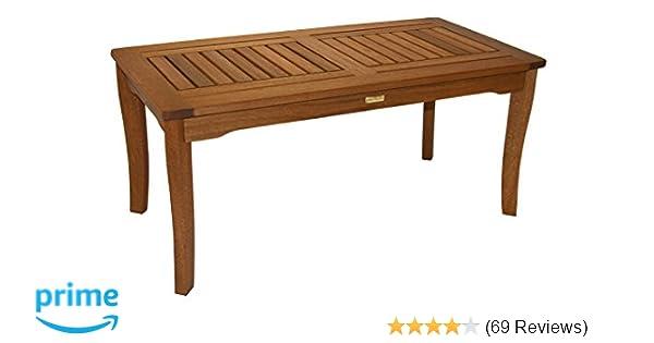 Amazon Com Outdoor Interiors 390070 Eucalyptus Coffee Table