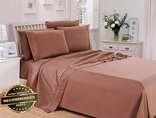 Florance Jones Egyptian Comfort 6 Piece Quality Deep Pocket Bed Sheets Set (Twin 3 Piece) | Collection Sheet Set SHSTHR-122022033 | King