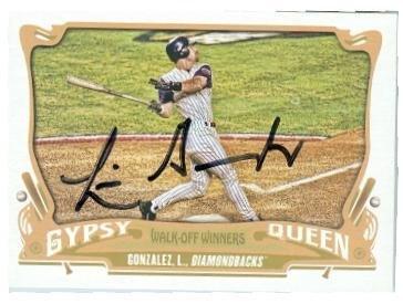 Luis Gonzalez Baseball (Luis Gonzalez autographed baseball card (Arizona Diamondbacks 2001 World Series Hit) 2015 Topps Gypsy Queen #GWO13)