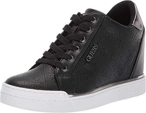 Image of GUESS Women's FLOWURS Sneaker, Black, 9.5 M US