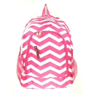 Chevron Print Backpack Hot Pink
