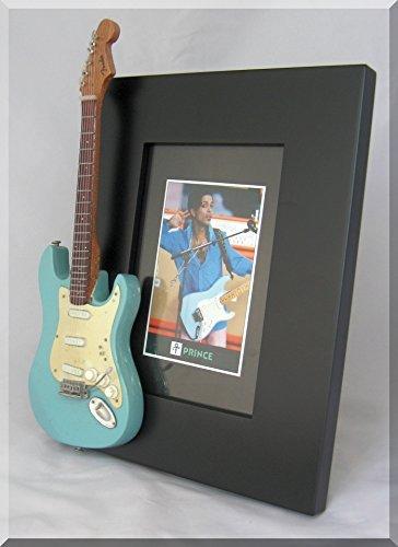 Prince Frame Blue (PRINCE Miniature Guitar Picture Frame Fender Sonic Blue)