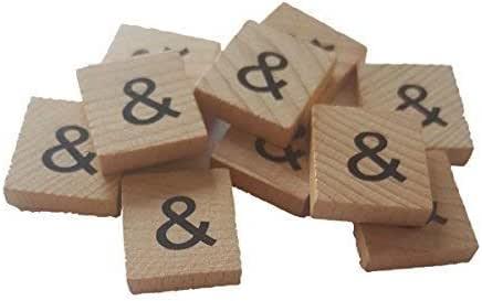 """Trimming Shop 2 Unidades Madera Figuritas """"&"""" Recambio Símbolo para Letras y Números de Tablero Juegos para Nombrar, Juego, Divertido, Educación Juguete Adorno: Amazon.es: Juguetes y juegos"""