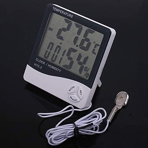 YALTOL Termómetro Digital Higrómetro Temperatura Humedad Medidor Reloj termometro Termómetro Digital Estación meteorológica Herramienta de diagnóstico: Amazon.es: Hogar