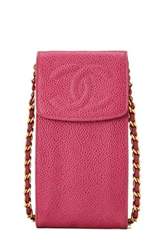 CHANEL Pink Caviar Timeless Classic Smartphone Holder (Pre-Owned)