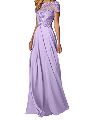 Zahlreichen Perlen Chiffon Lang Pailletten Charmant Lilac Brautmutterkleider Abendkleider Damen mit Festlichkleider und Ballkleider q8PSRUPcA