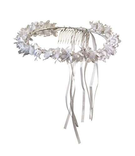 Girls First Communion White Flower Blossom Headpiece