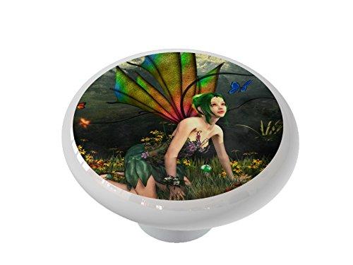 Garden Fairy Ceramic Drawer Knob