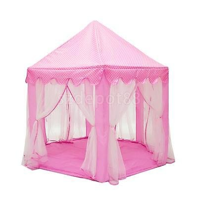 Pink Travel Portable Play Tent Girls Princess Playhouse Castle House Toy by uptogethertek