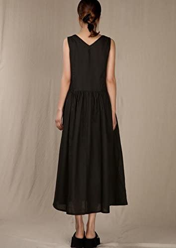 Angel/&Lily 3 Colors Handmade Linen Maxi SummerBeach Dress plus1x-10x SZ16-52
