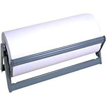 "Bulman Heavy Duty Steel Paper Cutter Dispenser, 24"" Wide With Rubber Feet and Long Lasting Grey Powder Coated Finish"