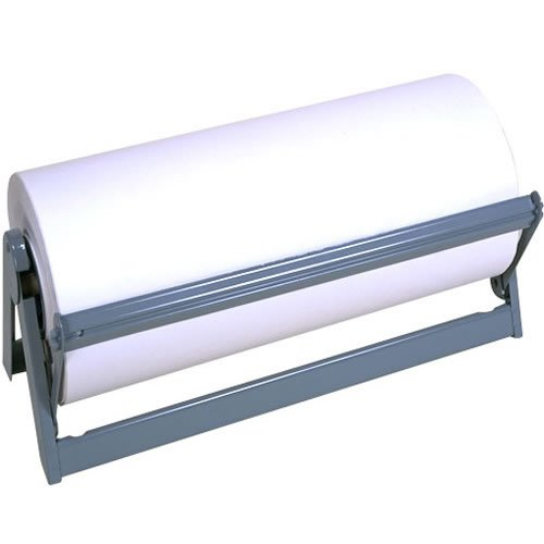Heavy Duty Steel Paper Cutter Dispenser, 24'' Wide With Rubber Feet and Long Lasting Grey Powder Coated Finish by Bulman