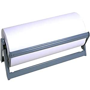 """Bulman Heavy Duty Steel Paper Cutter Dispenser, 24"""" Wide With Rubber Feet and Long Lasting Grey Powder Coated Finish"""
