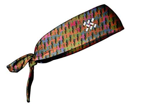 TreadBands All Terrain Tieback Non Slip Headband - Designs (Pineapples)